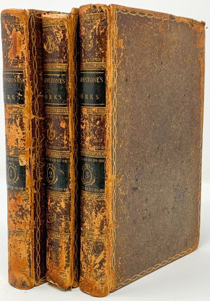 The works, in verse and prose, of William Shenstone Esq; in three volumes. With decorations. William Shenstone.