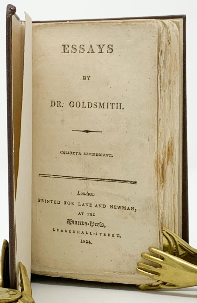 Essays by Dr. Goldsmith. Collecta Revirescunt. Oliver Goldsmith.
