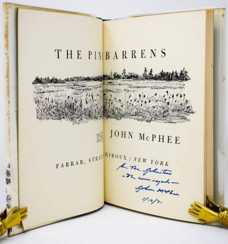 The Pine Barrens [Signed/Inscribed 1st Edition]. John McPhee.