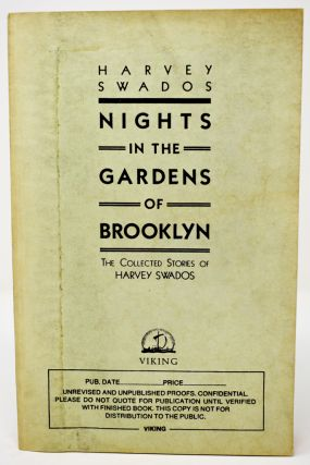 Nights in the Gardens of Brooklyn [Saul Bellow's copy]. Harvey Swados