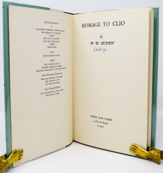 Homage to Clio [Signed]. W. H. Auden